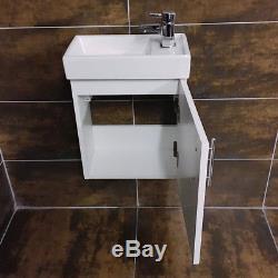 400mm Wall Hung Basin Sink Unit + RAK Origin Toilet Cloakroom Set