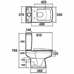 400mm Wall Hung Vanity Basin Unit Gloss White Close Coupled Toilet