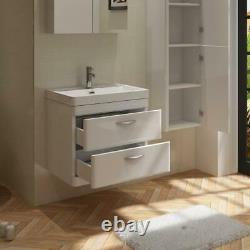 600mm Wall Hung Vanity Unit Basin RIMLESS Short Projection Close Coupled Toilet