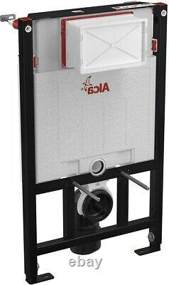 ALCA 0.85M CONCEALED WC TOILET CISTERN FRAME WITH BLACK MATT FLUSH PLATE 2in1