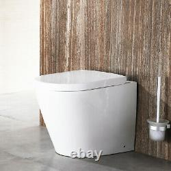 Back to Wall Toilet and Wall Hung Toilets & Seat Luxury White Ceramic Bathroom
