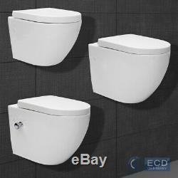Back to wall toilet pan with soft close seat hanging toilet white toilet seat WC