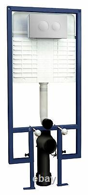 Bathroom Concealed Toilet Cistern Frame Push Button Compact Wall Hung Modern