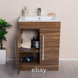 Bathroom Floor Standing Basin Vanity Unit Wall Hung Cabinet Tall Storage Toilet