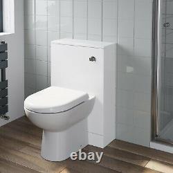 Bathroom Furniture Basin Vanity Toilet WC Unit Tall Wall Cabinet White Gloss