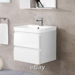 Bathroom Vanity Unit Basin Sink Wall Hung Floor Standing Toilet Cabinet Storage