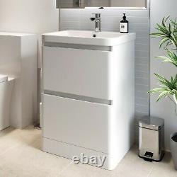 Bathroom Vanity Unit Basin Storage Cabinet Toilet WC Soft Close Furniture Sets