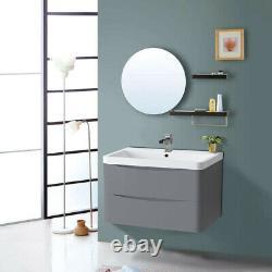 Bathroom Vanity Unit Cabinet Furniture Toilet Basin Sink Wall Hung Storage