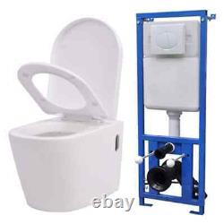 Bathroom Wall-hung Toilet WC Set Frame Adjustable / Concealed Cistern Home UK