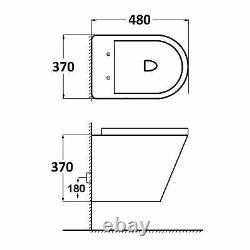 Bathrooms Cesar Modern Wall Hung Rimless Toilet Round Pan & Slim Soft Close Seat