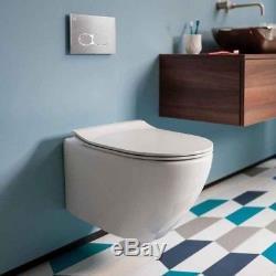 Bauhaus Svelte Wall Hung Toilet & Soft Close Seat 520mm Projection