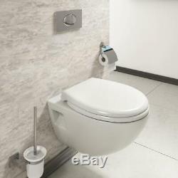 Chic Cheap Wall Hung Pan + Soft-Close Toilet Modern Round Bathroom