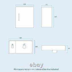 Cloakroom 400 Grey Vanity Basin Sink 1 Door Cabinet Wall Hung and Toilet Warder