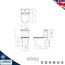 Cloakroom AIR RIMLESS Close Coupled Toilet & Wall Hung Vanity Unit Basin Sink