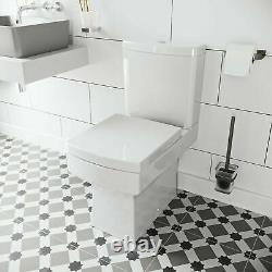 Cloakroom Bathroom Suite with Close Coupled Toilet and Wall Hung Wash Basin Sink