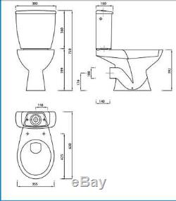 Cloakroom Suite Toilet WC withSeat + G4K Basin Compact Corner Wall Hung White Tap