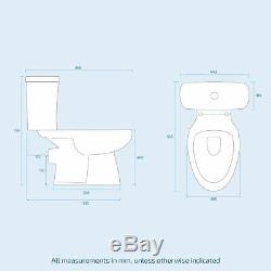 Compact 400 Cloakroom Basin Sink Vanity Unit Wall Hung with WC Toilet Warder