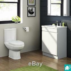Compact Wall Hung Vanity Unit with Basin & Close Coupled Toilet Tap & Waste