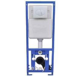 Concealed Cistern Toilet Frame Dual Flush Wall Hung WC Adjustable Pan Tank Bath