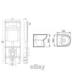 Concealed Wall Hung Toilet WC Adjustable Frame + Cistern, Pan, Flush Plate Barga