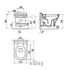 Creavit Antik Anthracite Matt Wall Hung Mounted Toilet Pan wc soft seat AN320