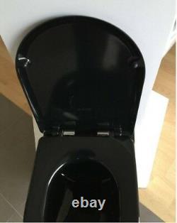 Creavit Black Wall Hung Mounted Combined Bidet Toilet Pan wc soft seat Turkish