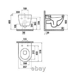 Creavit FE320 Matt Anthracite Wall Hung Mounted Toilet Pan WC Soft Close Seat