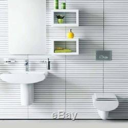 Creavit Slim Wall Hung Mounted Toilet Pan wc soft seat Made in Turkey SM320