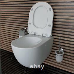 Creavit Wall Hung Rimless Mounted Toilet Pan wc soft seat Turkish