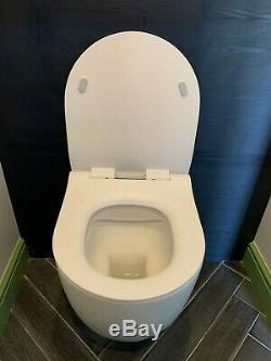 Crosswater -Glide II Matt White Wall Hung Short Rimless Toilet & Soft Close Seat
