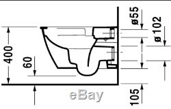 Duravit Darling New 370 x 540mm Wall Mounted Rimless Toilet 2557090000