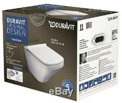 Duravit Durastyle Square Wall Hung Mounted Toilet With Soft Close Seat New+Boxed