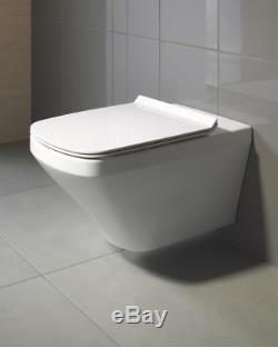 Duravit Durastyle Wall Hung Mounted Rimless Toilet WC Box Set 45510900A1