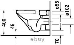 Duravit Durastyle wall hung toilet WC 2551090000 No Seat