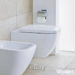 Duravit Happy D. 2 wall hung rimless wc toilet pan + seat 2222090000