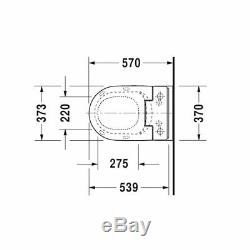 Duravit ME Starck Rimless WC Pod Modern Wall-Hung Washdown Toilet 2529090000