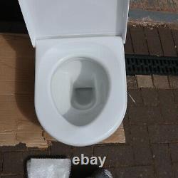 Duravit Philippe Starck 3 Wall Hung Mounted Rimless Toilet + Geberit Sigma Flush