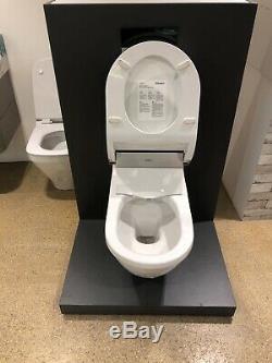 Duravit SensoWash Starck E Shower Toilet Seat with Wall Hung Starck 3 WC