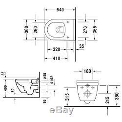 Duravit Starck 3 Rimless Wall Hung Toilet Pan & Soft Close Seat