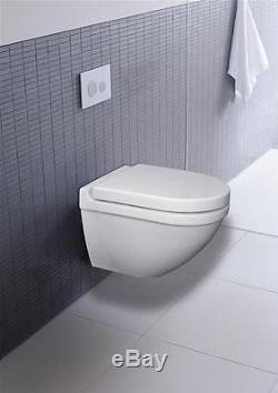 Duravit Starck 3 Wall Hung Ceramic Pan With Soft Close Seat