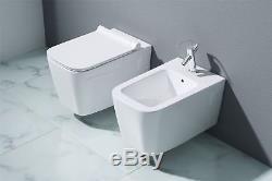 Durovin Bathroom White Gloss Ceramic Wall Hung Toilet And Bidet Range