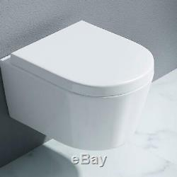Durovin Bathrooms Ceramic Wall Hung White WC Pan Toilet 495x390x370mm