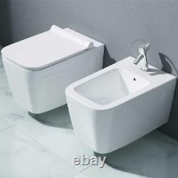 Durovin Wall Hung Toilet With Bidet Combo Soft Closing Toilet Seat