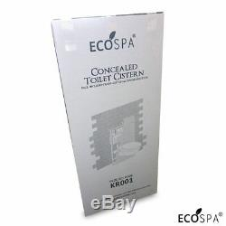 ECOSPA WC Concealed Wall Hung Toilet Cistern Frame + Dual Black Eco Flush Plate