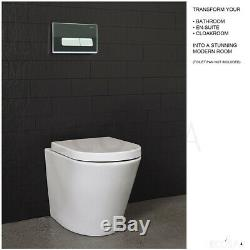 ECOSPA WC Concealed Wall Hung Toilet Cistern Frame + Dual Deluxe Eco Flush Plate