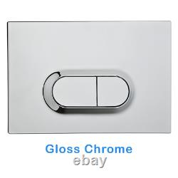 ECO Rimless Wall Hung Toilet Pan & VITRA Concealed Cistern WC Frame, Flush Plate