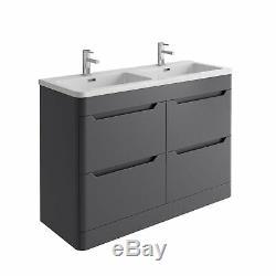 Essence Bathroom Storage Vanity Unit Sink WC Toilet Bathroom Cabinet Grey