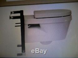 Euro Mono Wall Hung White Toilet Pan (Bathstore) + S Frame Plus Pan Frame, New