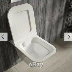 Ex-Display Hudson Reed Grace Wall Hung Rimless Pan & Soft Close Seat