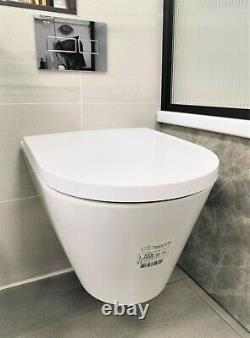 Ex Display LAUFEN Kartell Rimless Wall Hung WC White Seat Included RRP £723.2
